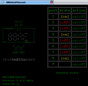 Screenshot: 8BitAmEthernet Oldschool Skin (en)
