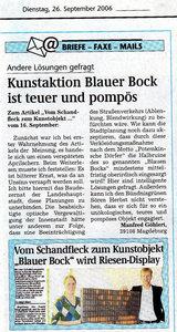 Volksstimme Leserbrief (20060926)