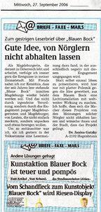 20060927 Volksstimme Leserbrief