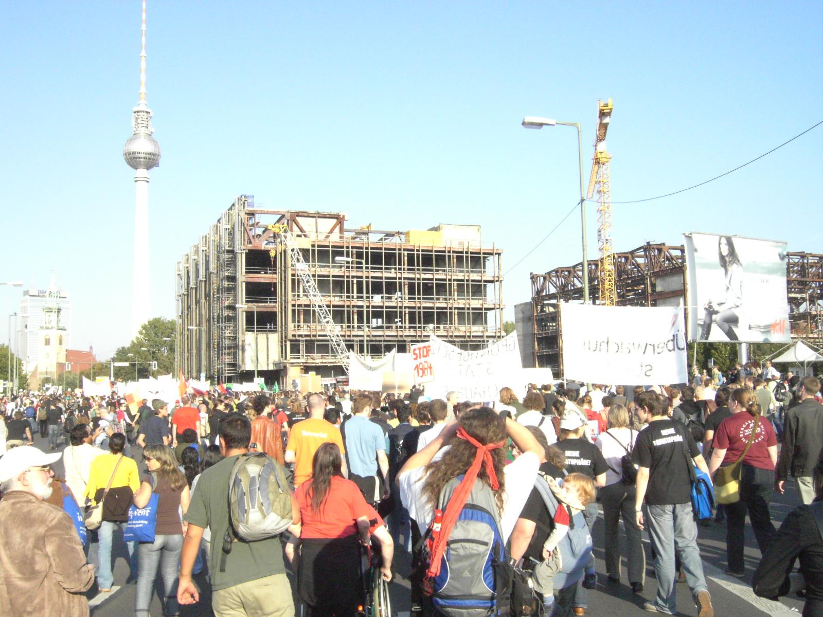Freiheit statt Angst - Demonstrationszug