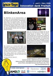 BlinkenArea Stand: Poster
