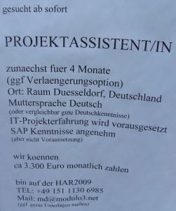 HAR2009-Projektassistentin