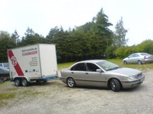 Der Volvo mit dem Anhänger!
