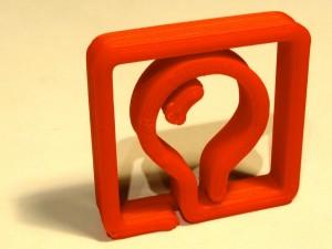 BlinkenArea Logo - mit Shapercube ausgedruckt